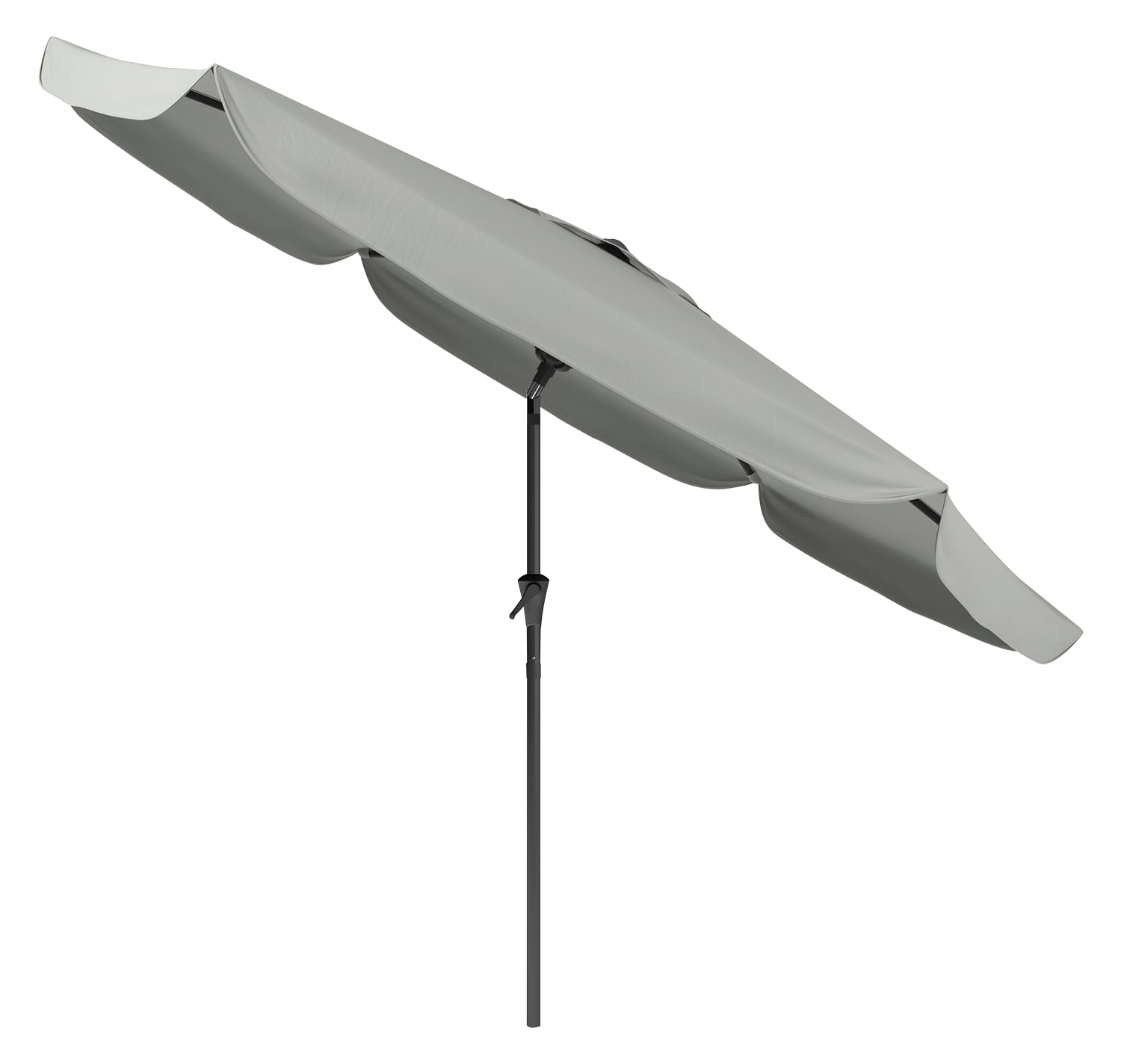 Tilting-Top Patio Umbrella – Sand Grey