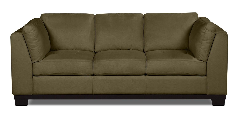 Oakdale Microsuede Sofa – Peat