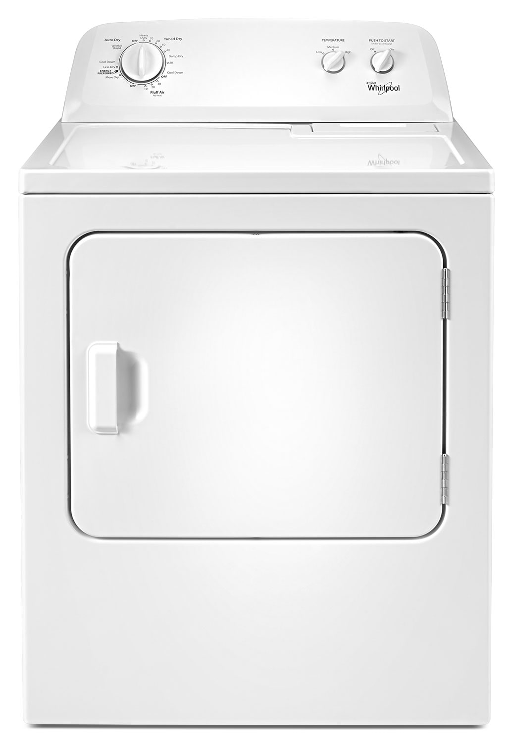 Washers and Dryers - Whirlpool White Electric Dryer (7.0 Cu. Ft.) - YWED4616FW
