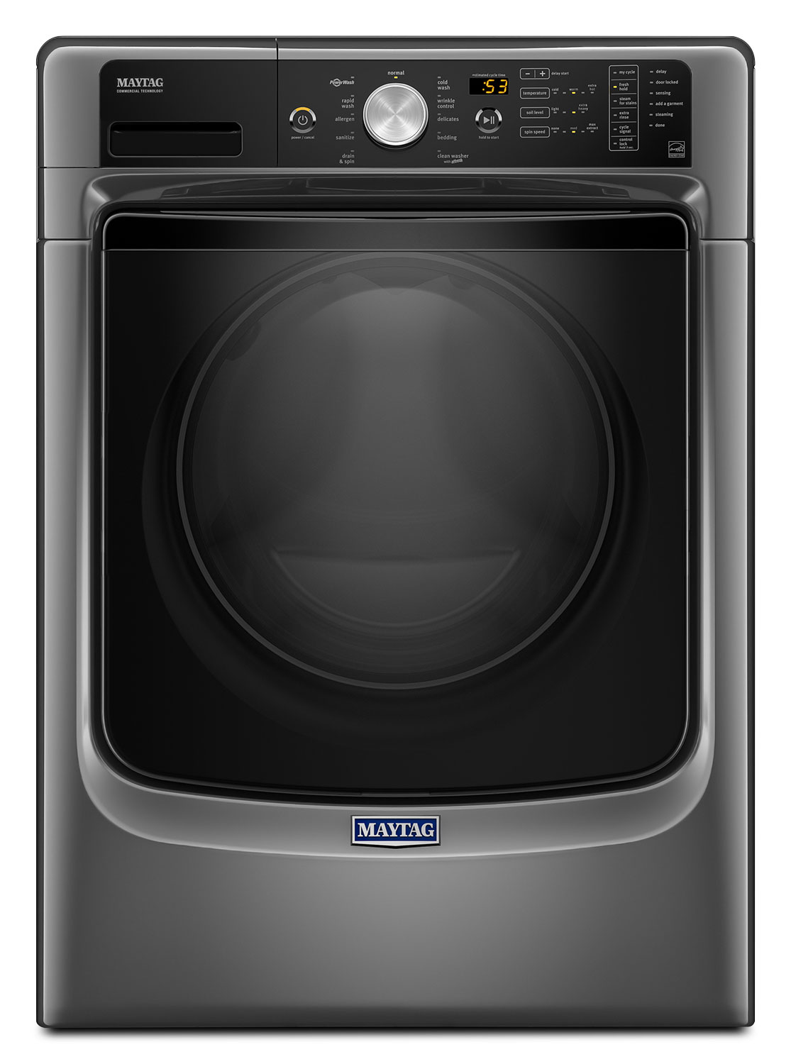 Washers and Dryers - Maytag Metallic Slate Front-Load Washer (5.2 Cu. Ft. IEC) - MHW5500FC