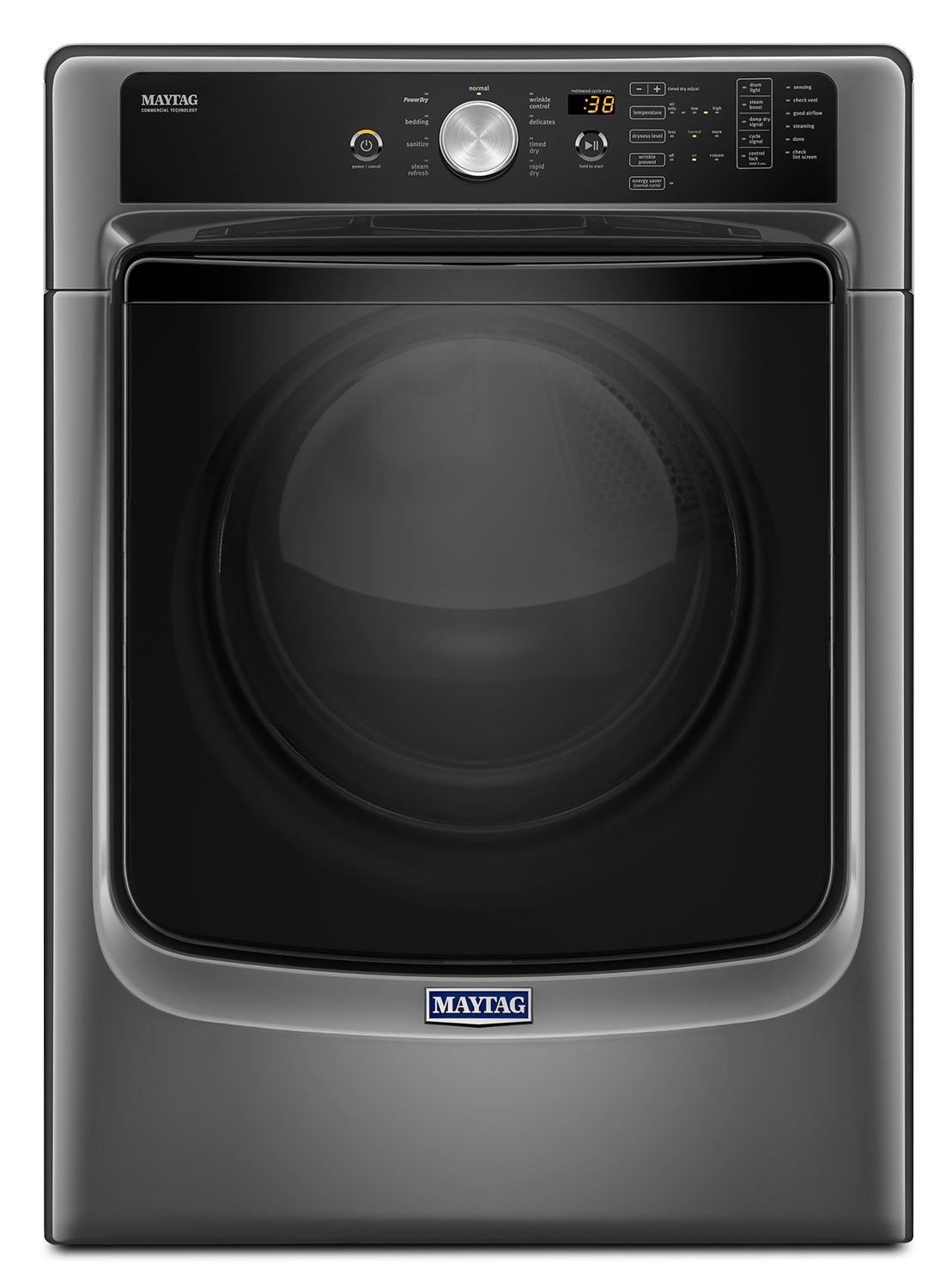 Washers and Dryers - Maytag Metallic Slate Electric Dryer (7.4 Cu. Ft.) - YMED5500FC