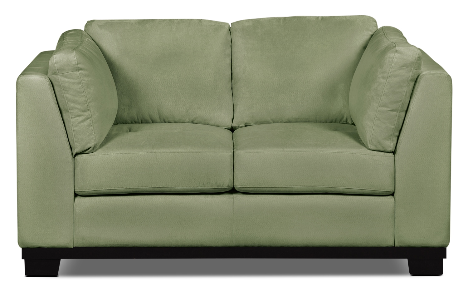 Living Room Furniture - Oakdale Microsuede Loveseat – Pear