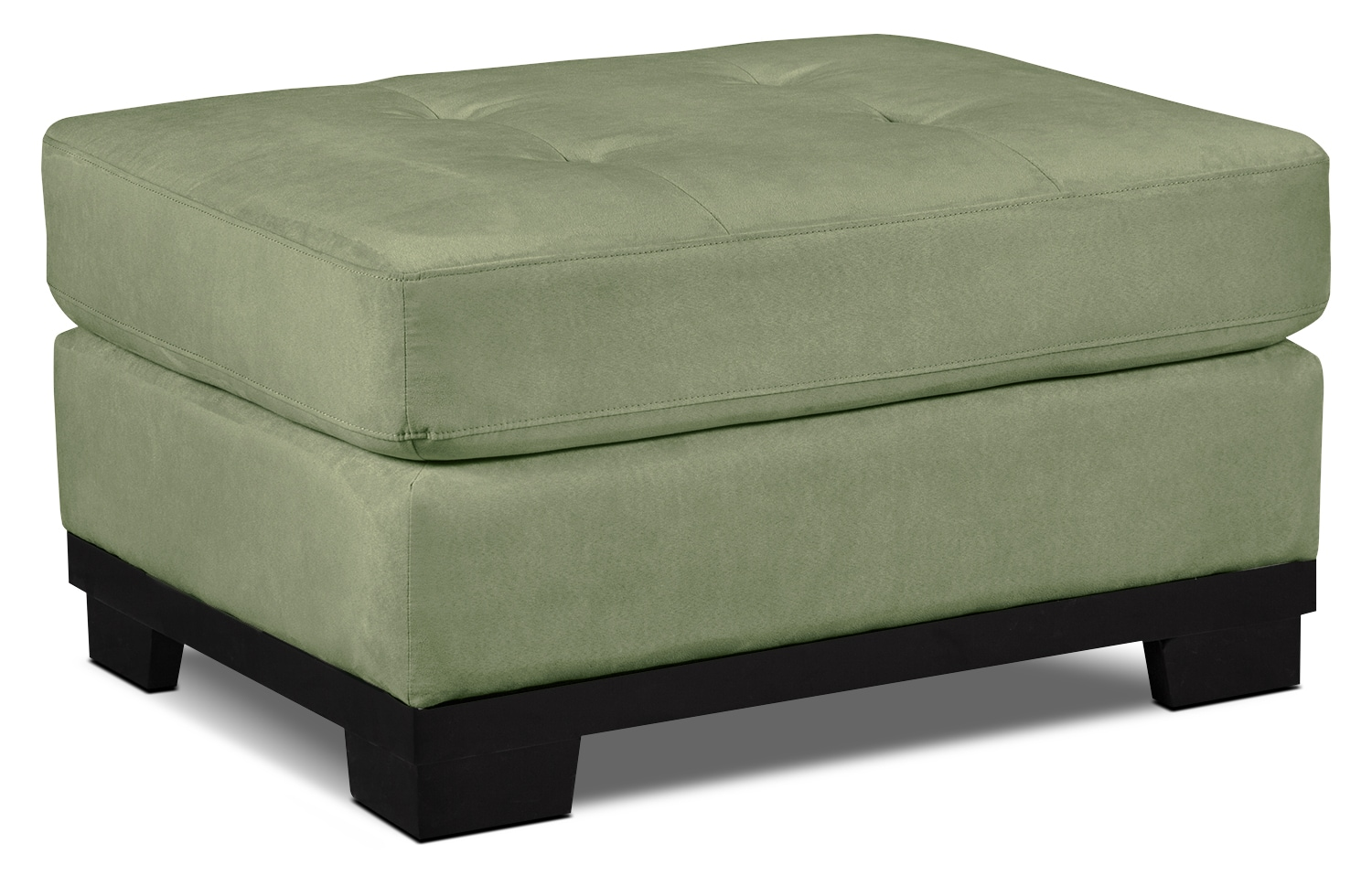 Living Room Furniture - Oakdale Microsuede Ottoman – Pear