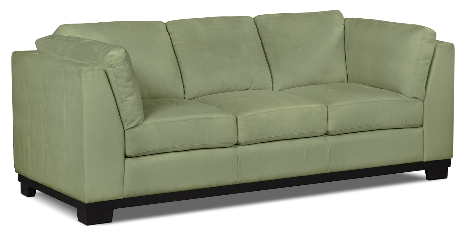 Oakdale Microsuede Sofa Pear The Brick
