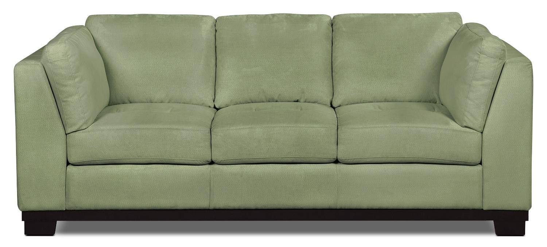 Oakdale Microsuede Sofa Pear The Brick