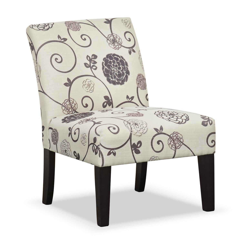 Floral Living Room Sets: Wylie Upholstered Side Chair - Floral