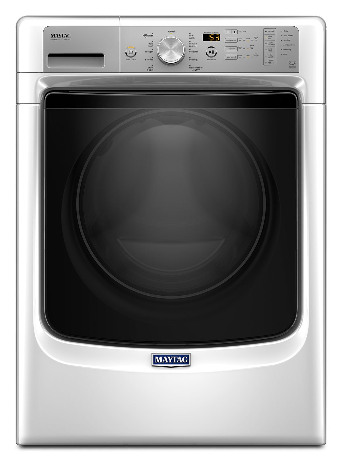 Maytag White Front-Load Washer w/ Fresh Hold® Option (5.2 Cu. Ft.) - MHW5500FW