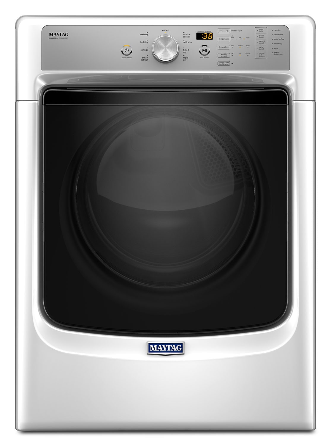 Washers and Dryers - Maytag White Gas Dryer (7.4 Cu. Ft.) - MGD5500FW