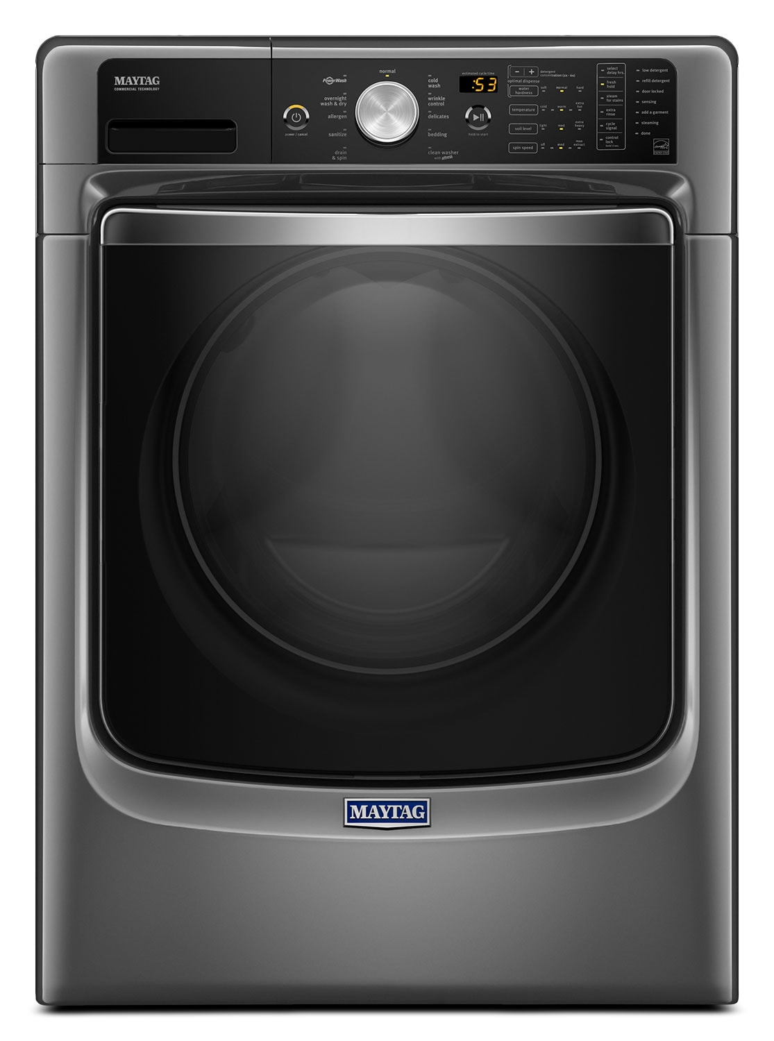 Maytag Metallic Slate Front-Load Washer w/ PowerWash® System (5.2 Cu. Ft. IEC) - MHW8200FC