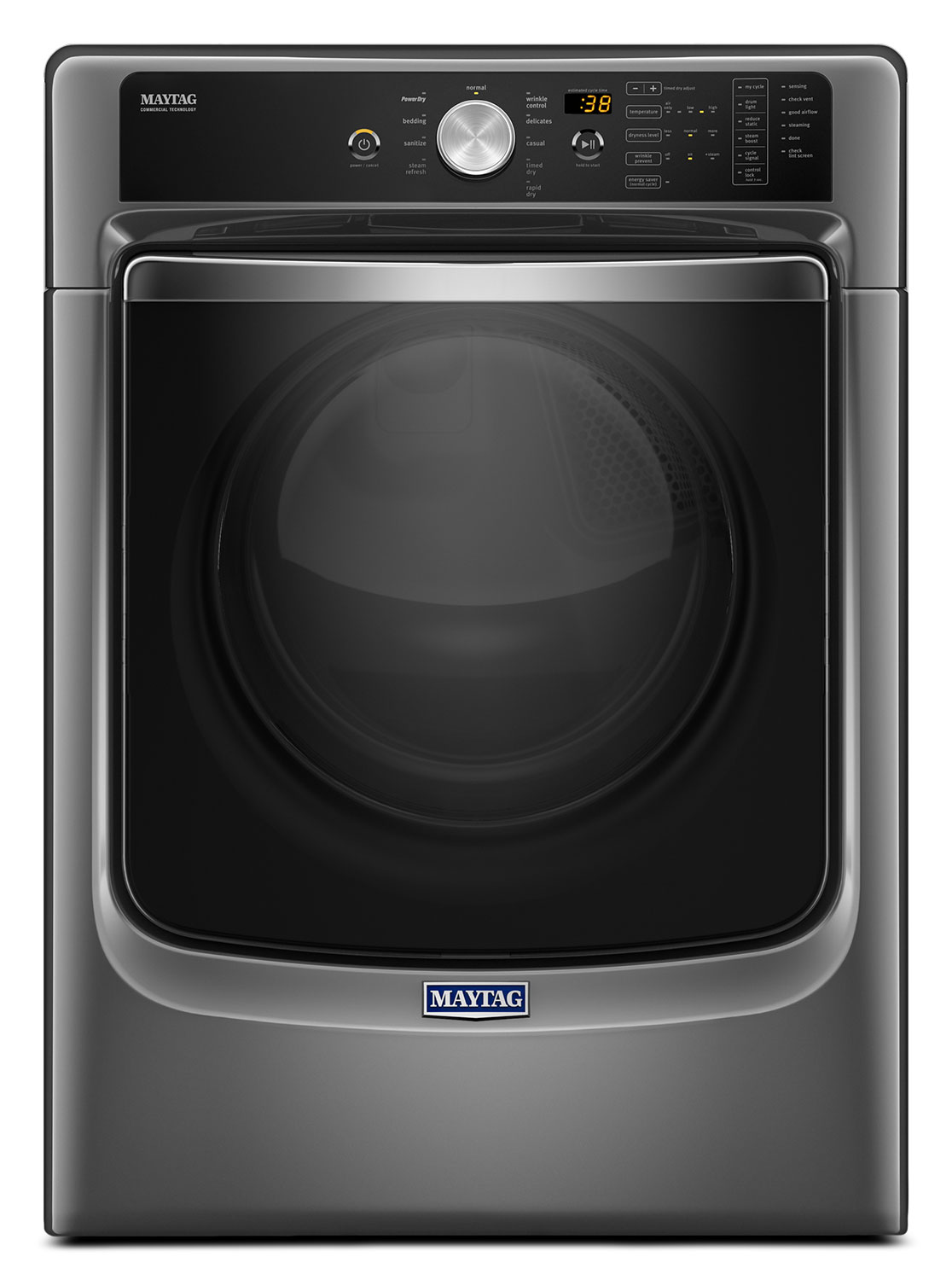 Washers and Dryers - Maytag Metallic Slate Gas Dryer w/ PowerDry System (7.4 Cu. Ft.) - MGD8200FC