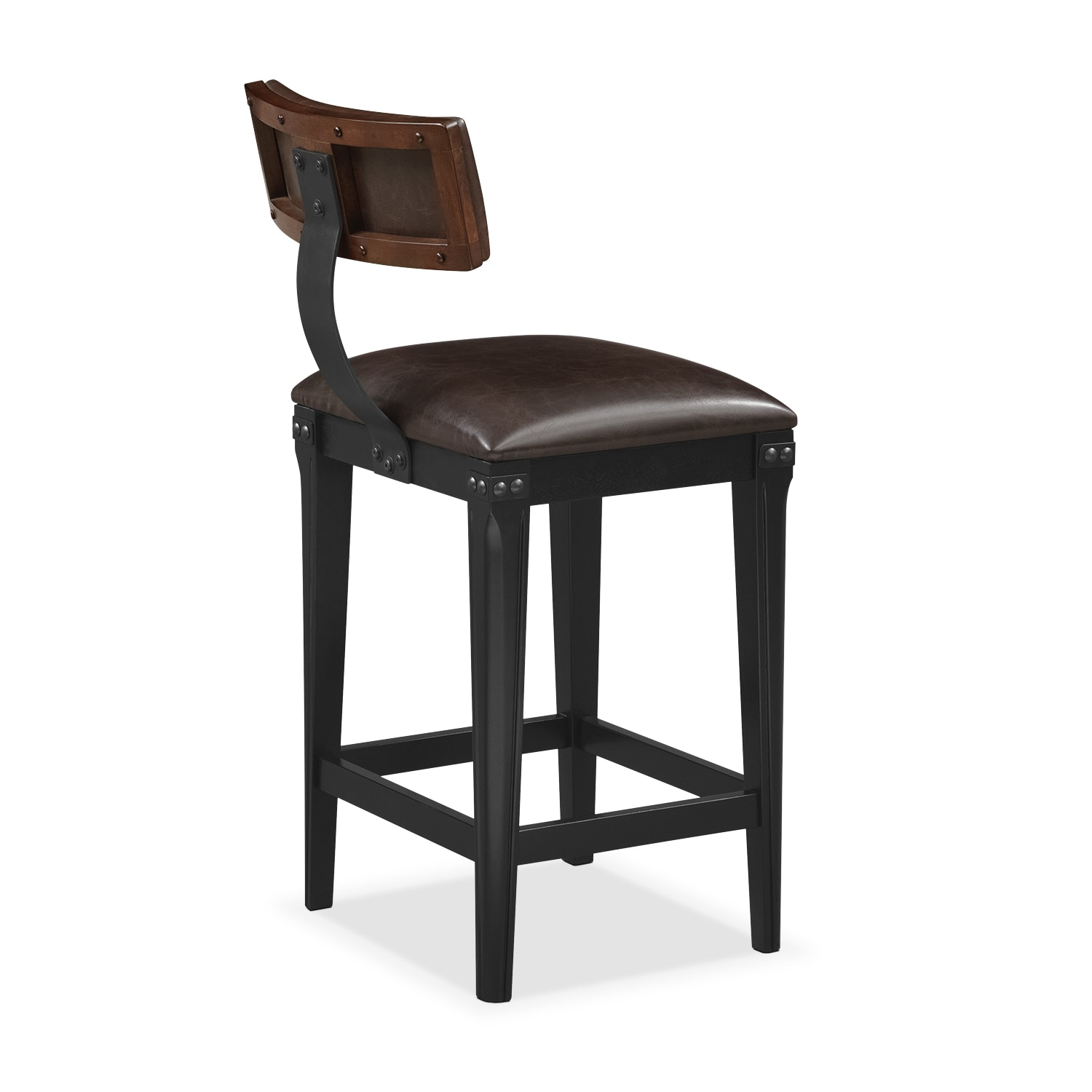 Newcastle Counter Height Stool Mahogany Value City Furniture