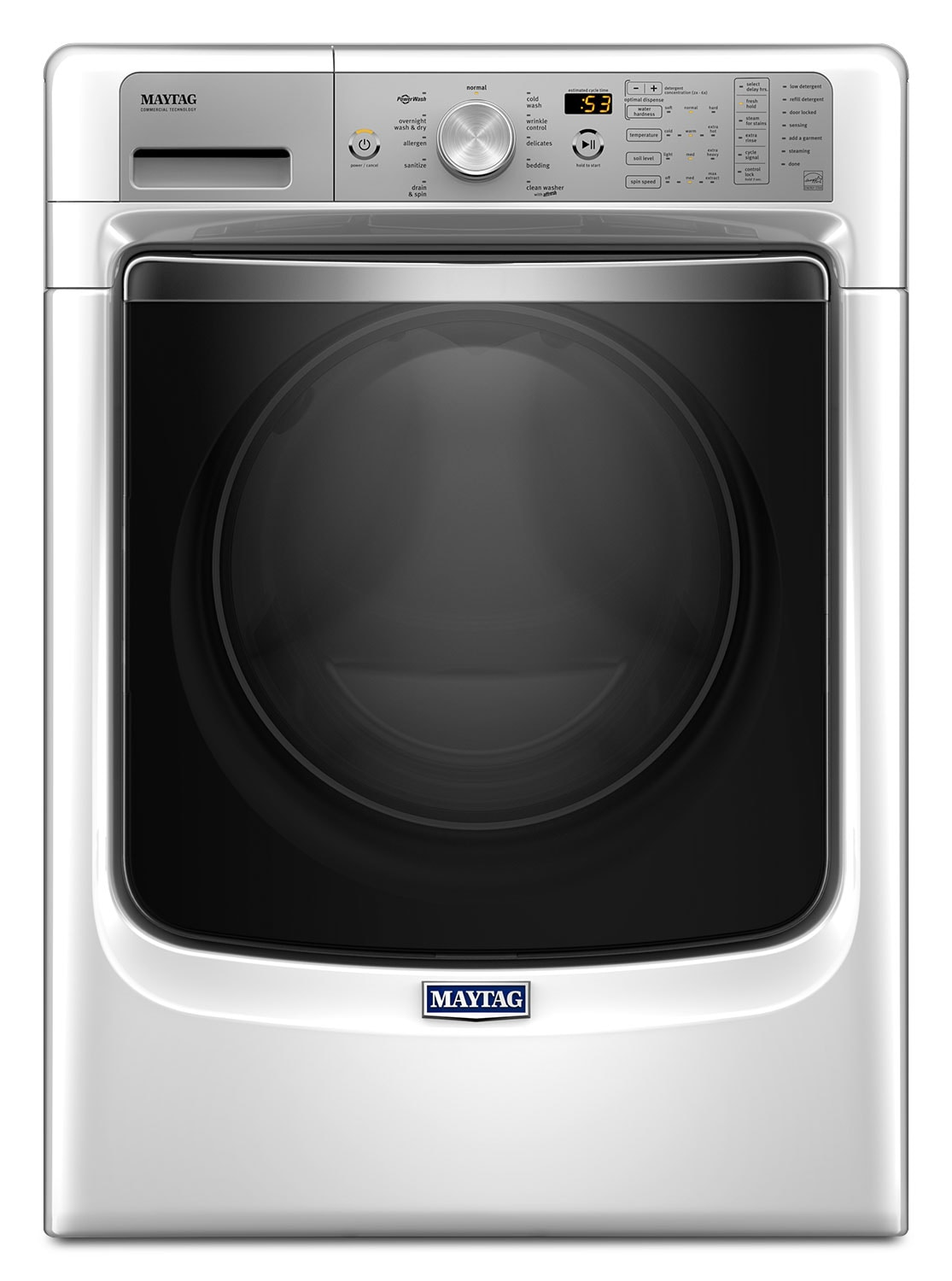 Maytag White Front-Load Washer w/ PowerWash® System (5.2 Cu. Ft. IEC) - MHW8200FW