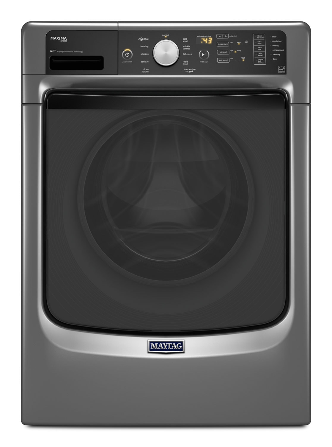 Maytag Metallic Slate Front-Load Washer (4.8 Cu. Ft. I.E.C.) - MHW5400DC