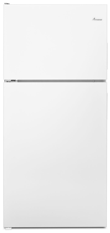 Refrigerators and Freezers - Amana White Top-Freezer Refrigerator (18.15 Cu. Ft.) - ART318FFDW