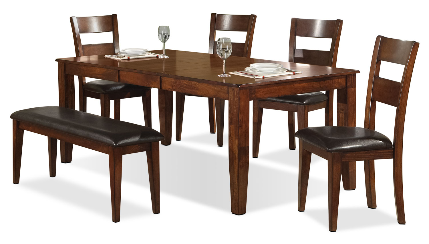 Dining Room Furniture - Dakota Light 6-Piece Dining Package