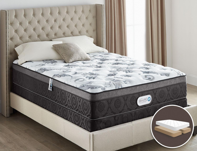 Beautyrest® Recharge Plus Allure Ultra Euro-Top Split Queen Mattress Set