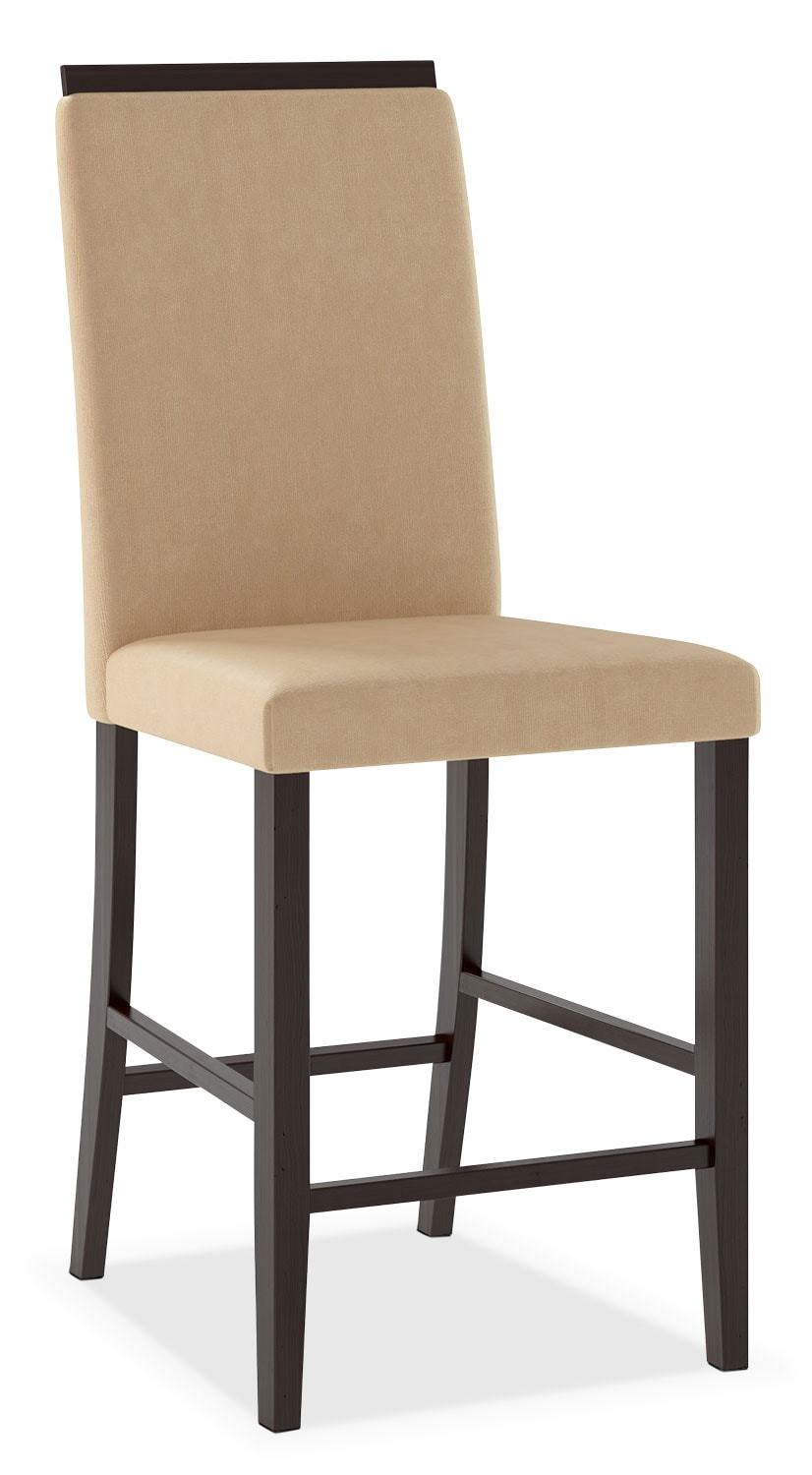 Bistro Counter-Height Dining Chair with Capped Backrest – Desert Sand