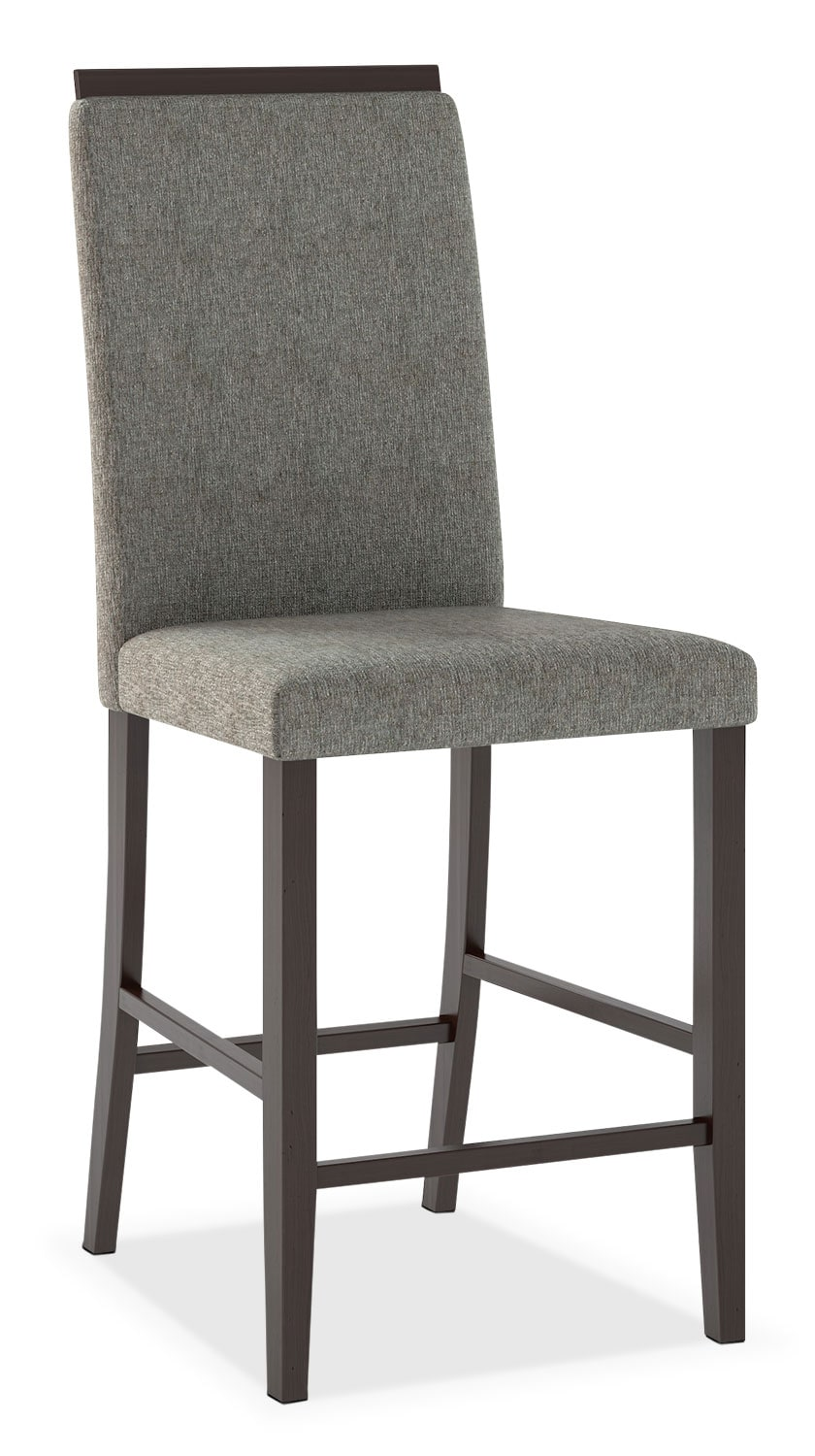 Bistro Counter-Height Dining Chair with Capped Backrest – Pewter Grey