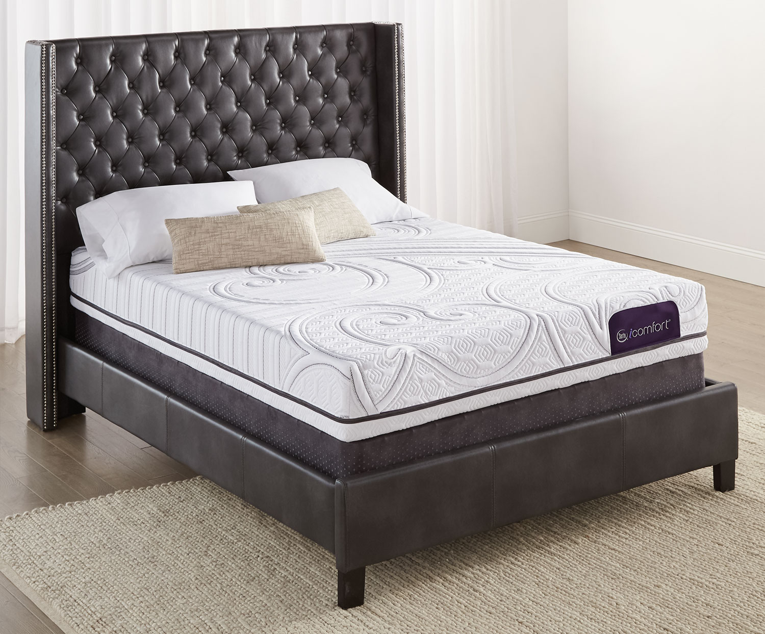 Serta iComfort Aura 2 Firm Queen Mattress with Low-Profile Split Boxspring Set