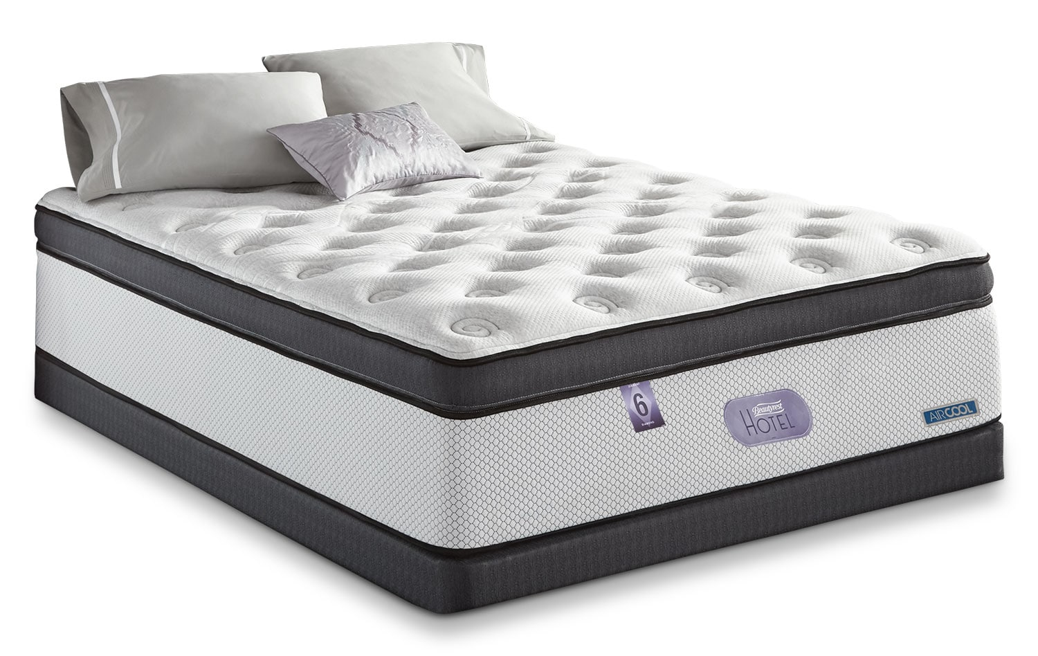 Mattresses and Bedding - Simmons Beautyrest® Hotel Diamond 6.0 Ultra Comfort Top Plush Low-Profile Split Queen Mattress Set