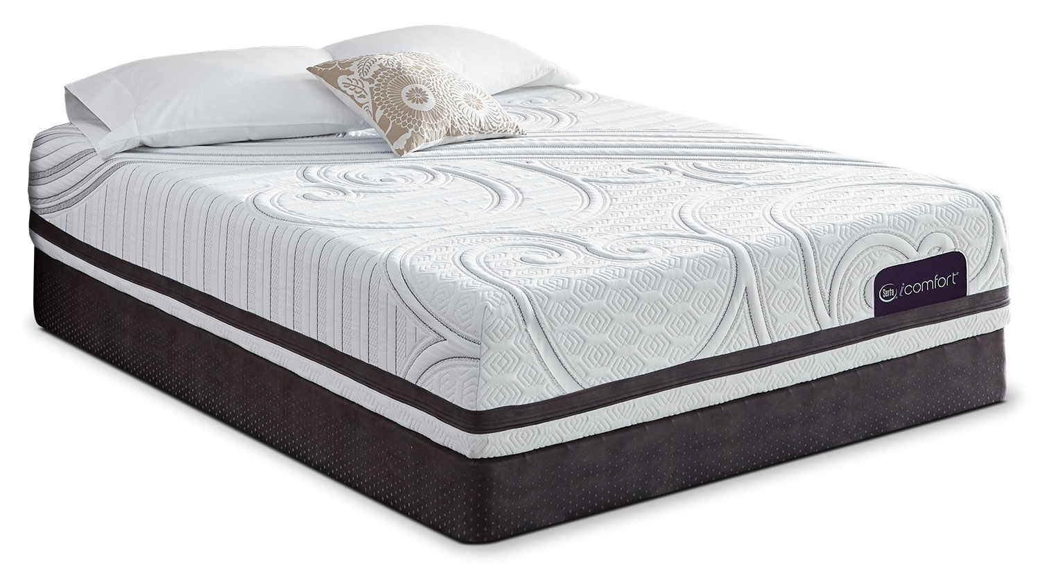 Serta iComfort Visionary Firm 2 Queen Mattress with Low-Profile Split Boxspring Set
