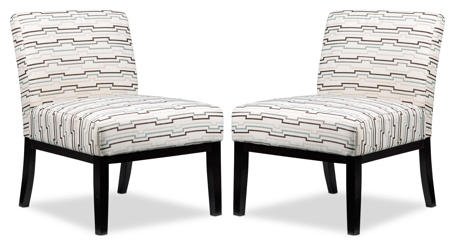 Living Room Furniture - Trilling 2-Piece Accent Chair Set - Beige
