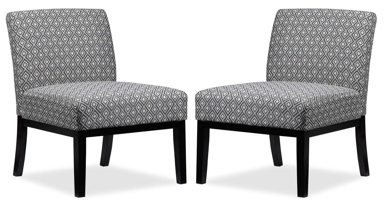Upton 2-Piece Accent Chair Set - Grey