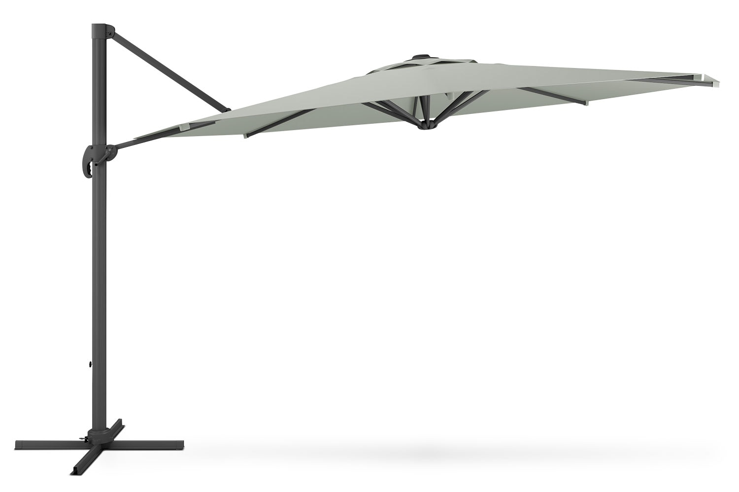 Outdoor Furniture - Offset Patio Umbrella – Sandy Grey
