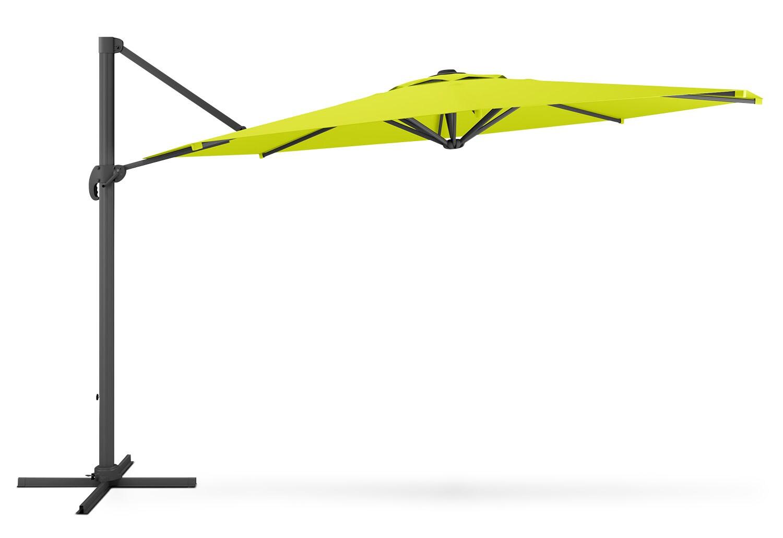 parasol excentr de 81 5 po pour la terrasse vert lime. Black Bedroom Furniture Sets. Home Design Ideas