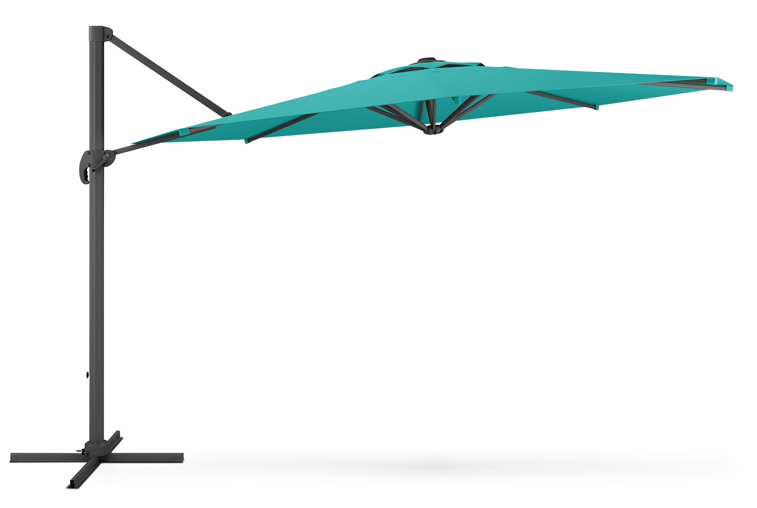Outdoor Furniture - Offset Patio Umbrella – Turquoise Blue