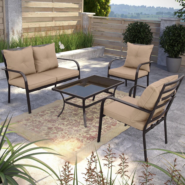 Ensemble de conversation corliving 4 pi ces pour la for Liquidation meubles patio