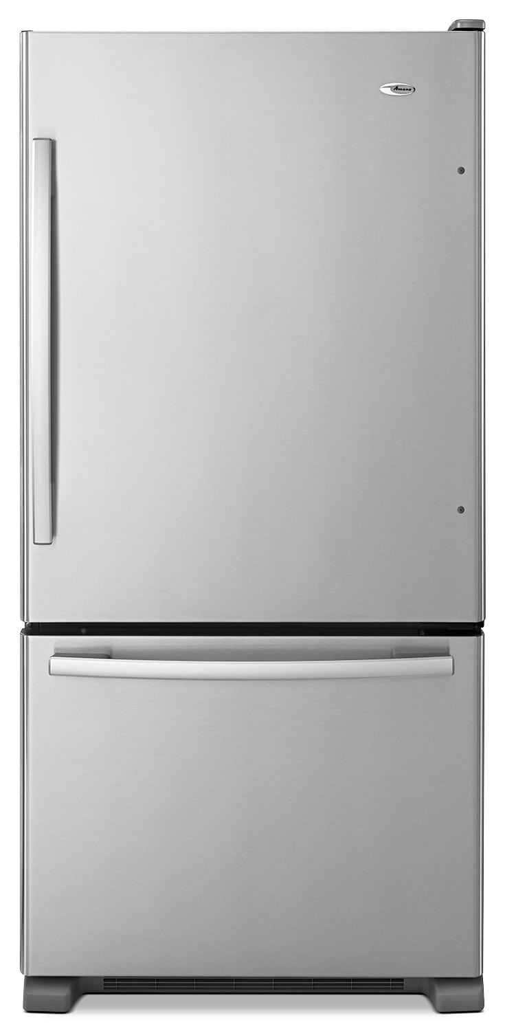 Refrigerators and Freezers - Amana Stainless Steel Bottom-Freezer Refrigerator (22.1 Cu. Ft.) - ABB2224BRM