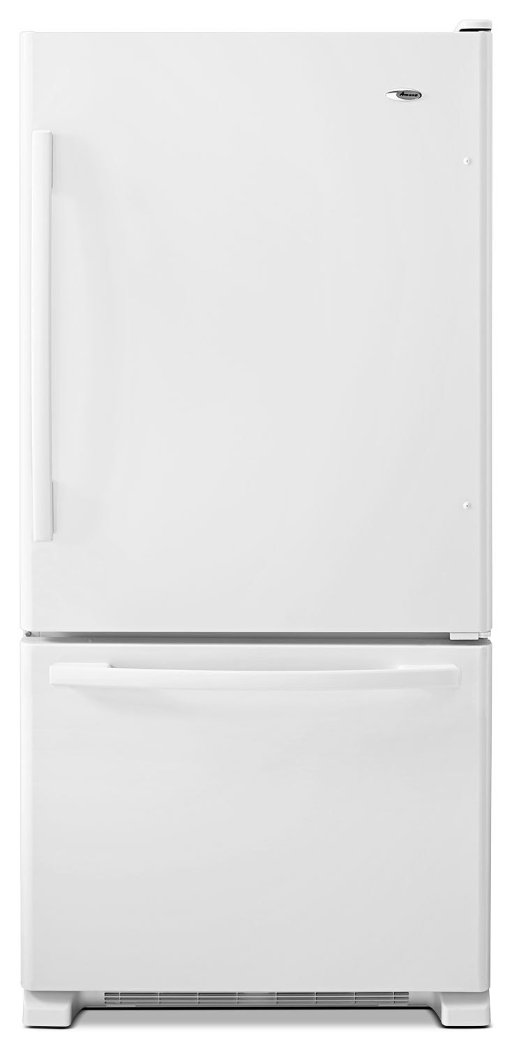 Refrigerators and Freezers - Amana White Bottom-Freezer Refrigerator (22.1 Cu. Ft.) - ABB2224BRW