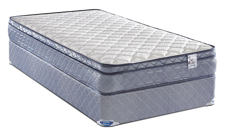 Mattresses and Bedding - Springwall Odin Euro-Top Firm Twin Mattress Set