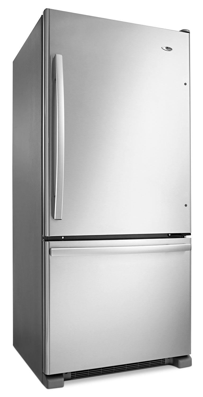 amana stainless steel bottom freezer refrigerator 18 7 cu ft abb1924brm leon 39 s. Black Bedroom Furniture Sets. Home Design Ideas