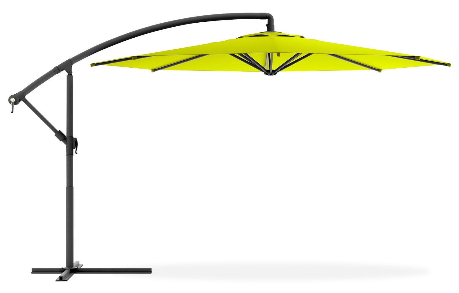 Cantilevered Patio Umbrella – Lime Green