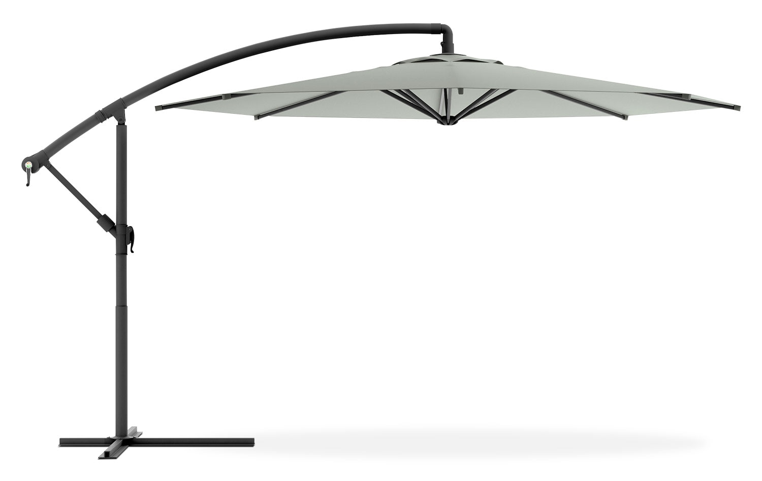 Cantilevered Patio Umbrella – Sandy Grey