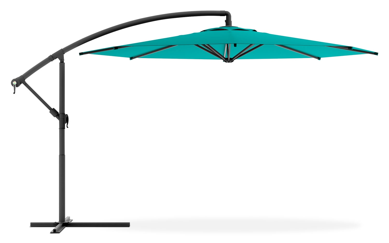 Mobilier de jardin - Parasol excentré de 99 po pour la terrasse - bleu turquoise