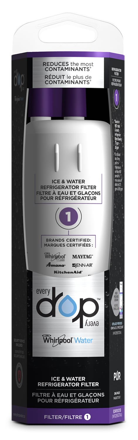Appliance Accessories - Whirlpool Everydrop™ Ice and Water Refrigerator Filter 1