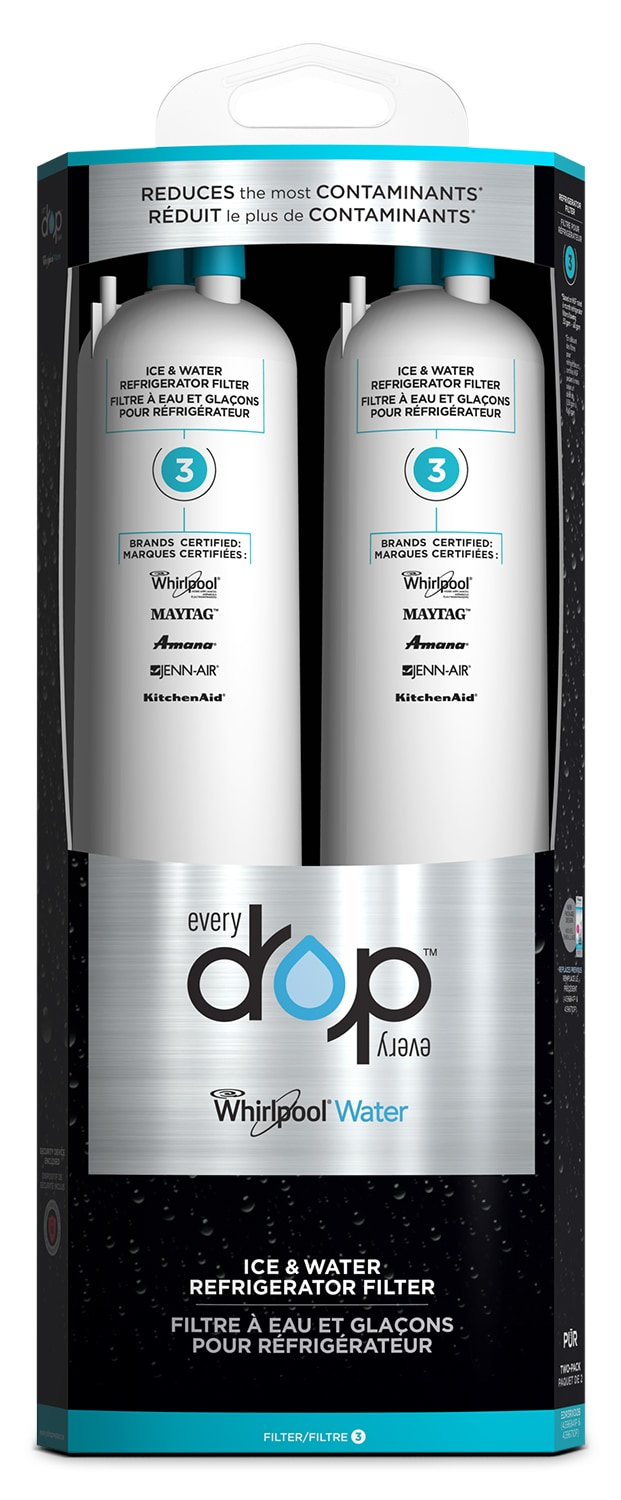 Appliance Accessories - Whirlpool Everydrop™ Ice & Water Refrigerator Filter 3 – Pack of 2