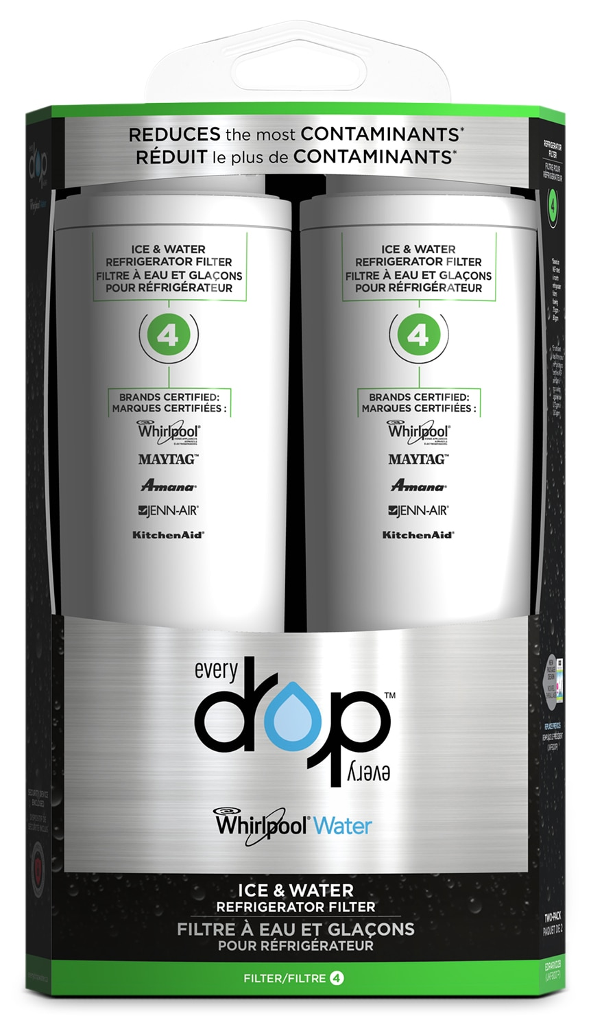 Appliance Accessories - Whirlpool Everydrop™ Ice & Water Refrigerator Filter 4 – Pack of 2