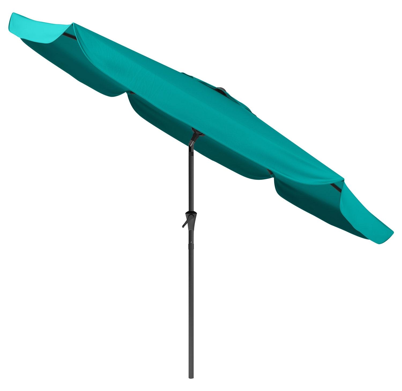 Outdoor Furniture - Tilting-Top Patio Umbrella – Turquoise Blue