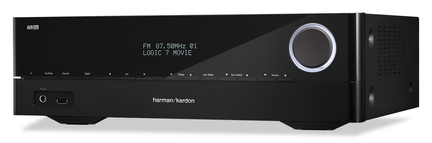 Sound Systems - Harman Kardon 375-Watt 5.1 Channel Network A/V Receiver - AVR1510S