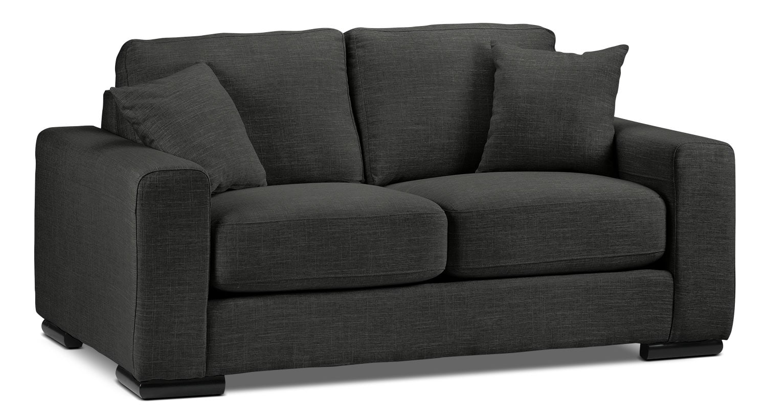 Living Room Furniture - Precious Loveseat - Dark Grey
