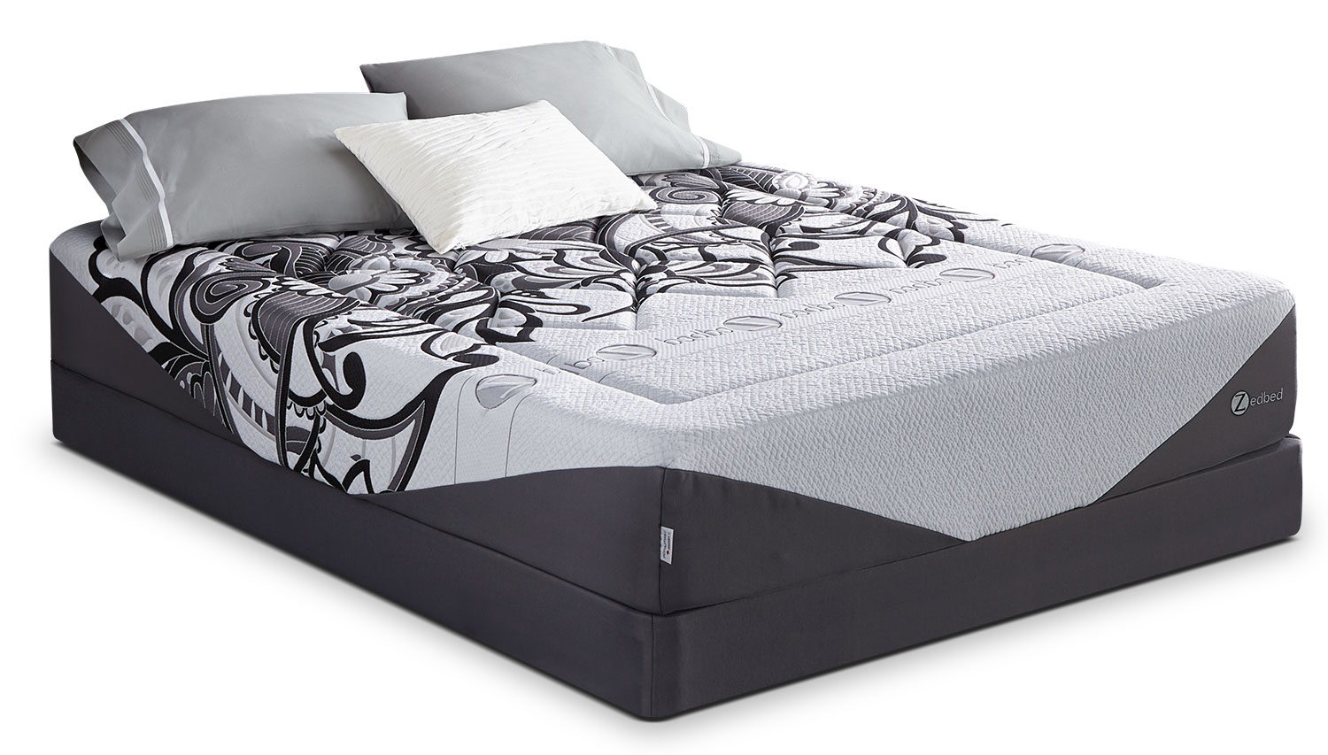 Mattresses and Bedding - Zedbed Vertuo Ultra Tight-Top Full Mattress Set