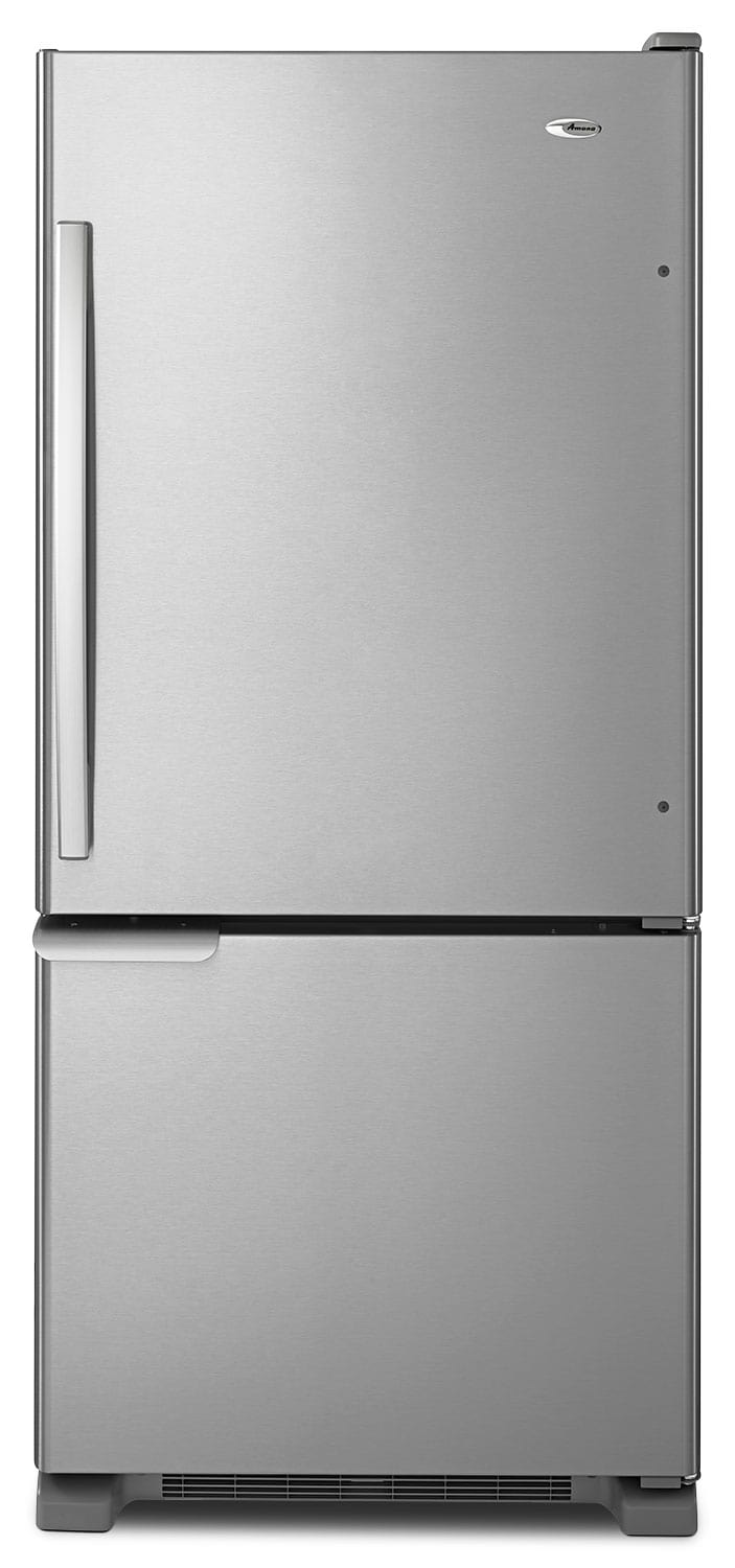 Refrigerators and Freezers - Amana Stainless Steel Bottom-Freezer Refrigerator  (18.7 Cu. Ft.) - ABB1921BRM