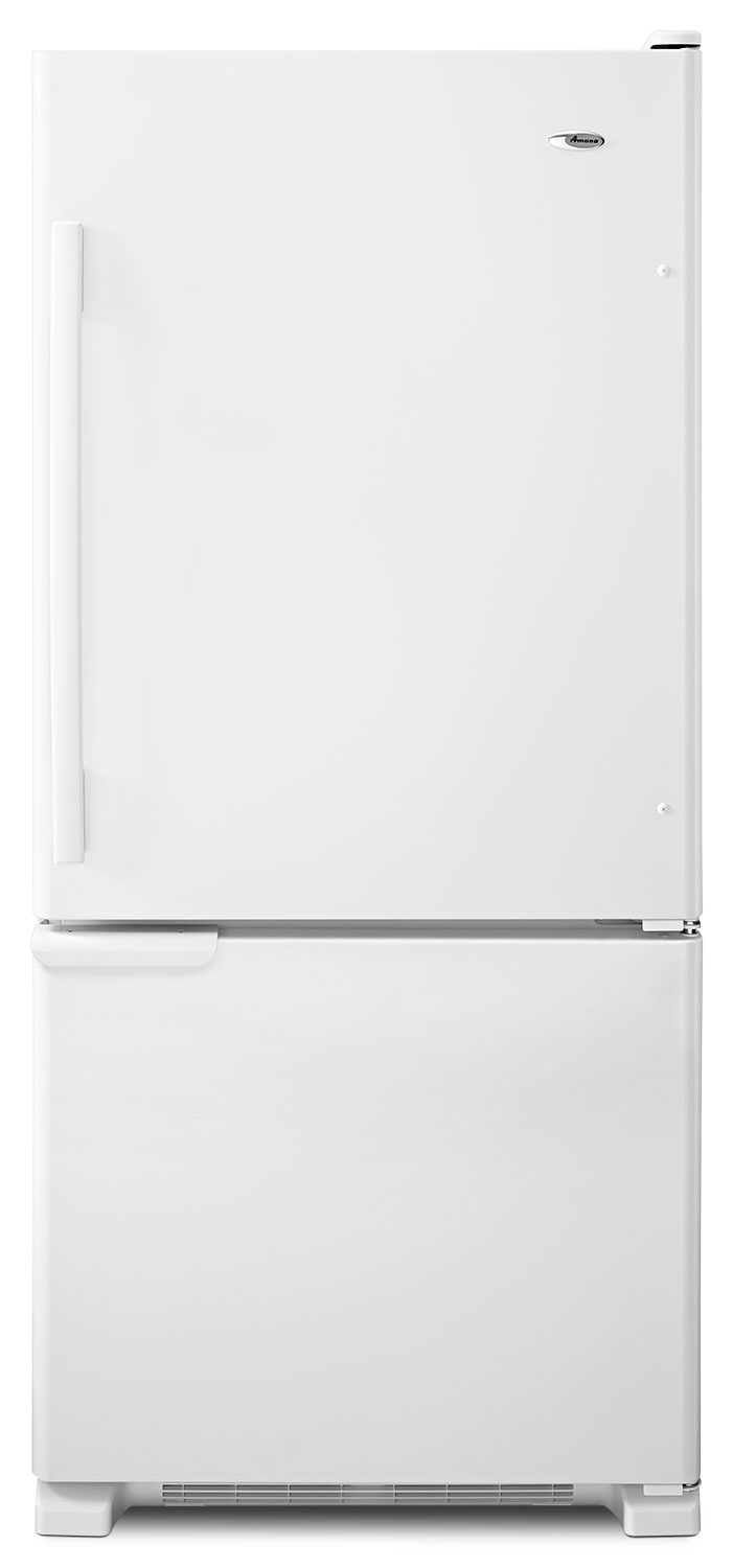 Refrigerators and Freezers - Amana White Bottom-Freezer Refrigerator  (18.7 Cu. Ft.) - ABB1921BRW