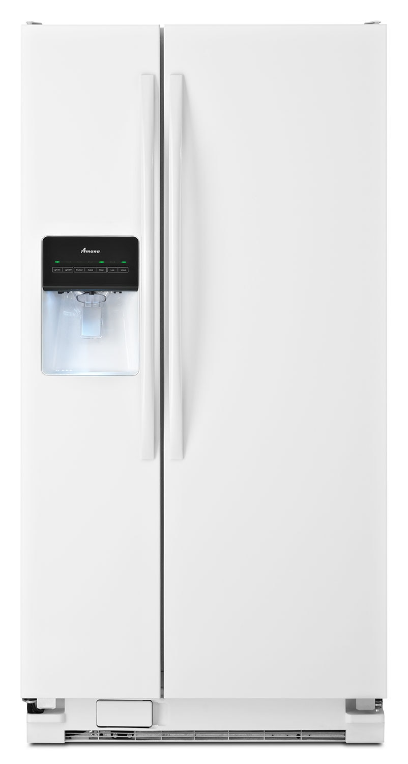 Refrigerators and Freezers - Amana White Side-by-Side Refrigerator (21.2 Cu. Ft.) - ASD2275BRW