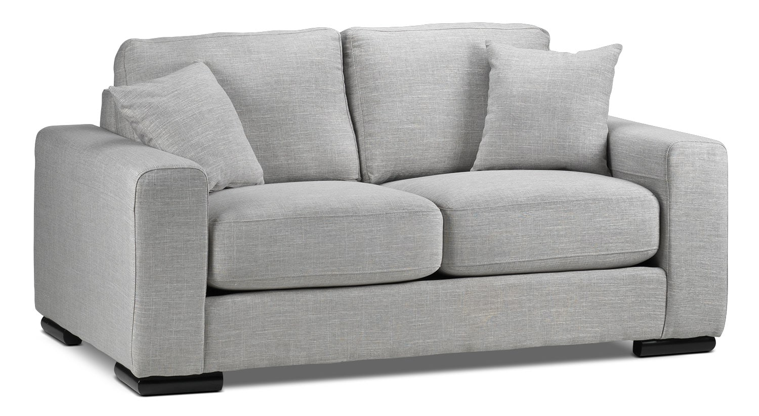 Living Room Furniture - Precious Loveseat - Grey