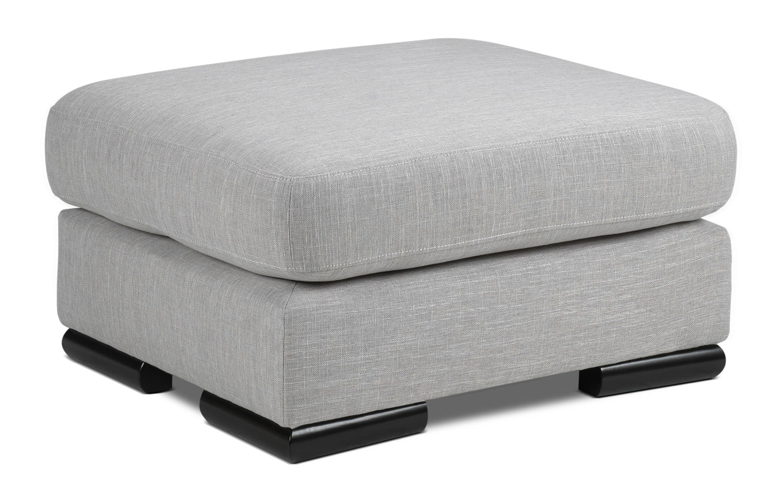 Living Room Furniture - Precious Ottoman - Grey
